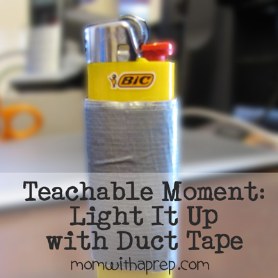 Light it Up with Duct Tape {Mom with a Prep}