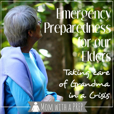 Not only do we need to prepare for our families at home, but we need to make sure that Grandma is taken care of, too! Do you have a plan for elderly loved ones that may live alone or in nursing homes? // Mom with a PREP