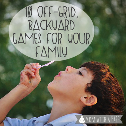In our efforts to get 'off-line' with our kids, here are some off-grid, backyard games to play with our kids, even if you aren't having a birthday party to do it! Make sure to tuck some ideas away in case of an emergency to have something to help keep the kids occupied!
