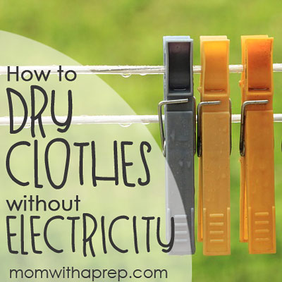How to Dry Clothes without Electricity - get organized for ways to dry your clothes without power | Mom with a Prep