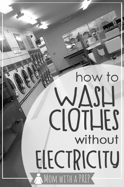 """""""Have you thought of how you will keep your clothes, and extended to your family, clean during a time of power loss in your community?"""""""