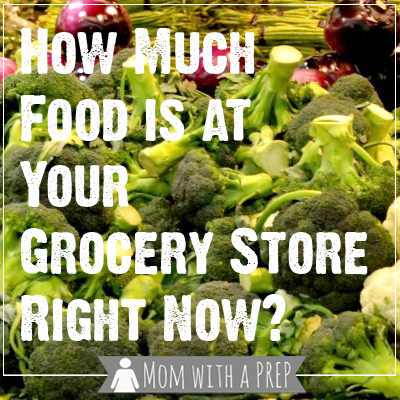 Mom with a PREP | When a big storm rolls through, just how much food does your grocery store really stock? What happens if the roads are closed. The answer may surprise you...