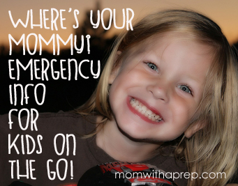 Emergency Contact Info for Kids on the Go - unique ways to make sure our younger ones have that info, too! {Mom with a Prep}