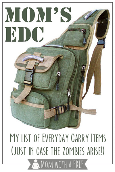 Mom with a PREP   Mom's EDC – Or the everyday carry stuff I have crammed into my pockets and purse just in case the zombies rise ! #edc #prepare4life #zombies