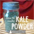 How to Make and Use Kale Powder by Mom with a Prep {blog} - this stuff is awesome to store to use for smoothies and put in sauces and sprinkle over foods the way you do parsley or to put into meatloaf or salads and more! #foodstorage #kale