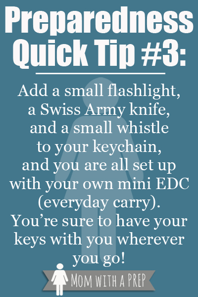 Preparedness Quick Tip #3: Mini EDC  {Mom with a Prep Blog}