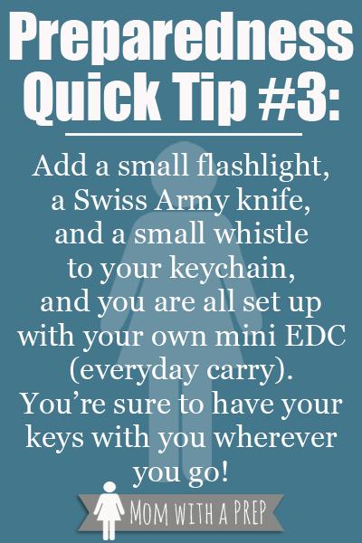 Preparedness Quick Tip #3: Mini EDC {Mom with a Prep Blog}