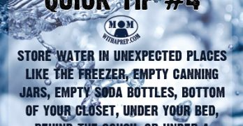 Preparedness Quick Tip #4: Store Water in Unexpected Places