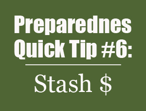 Preparedness Quick Tip #6: Stash Some Cash in Unexpected Places | {Mom with a Prep}