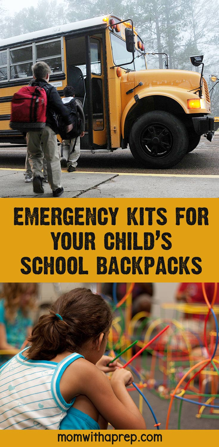 Emergency survival kit for back to school backpack for your kids