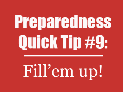 Mom with a PREP | Preparedness Quick Tip #9 - where is the fuel gage on your car right now? Is it almost on empty? #fillerup #prepare4life