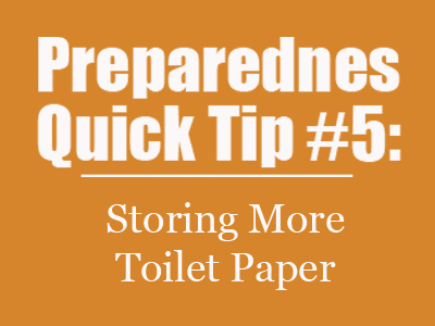 Preparedness Quick Tip #5: Storing More Toilet Paper {Mom with a Prep Blog}