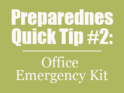 PQT #2: Office Emergency Kit   { Mom with a Prep }