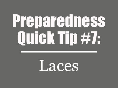 Preparedness Quick Tip #7: Tie Your Shoes with Paracord {Mom with a Prep}
