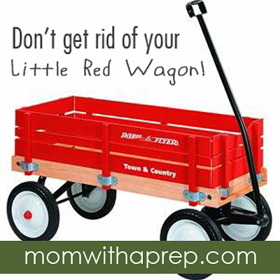 The Moral of the Story: Don't Give Up Your Little Red Wagon  |  {Mom with a Prep}
