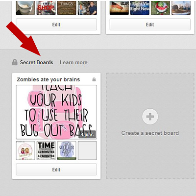 Mom with a Prep - How to Add a Secret Pinterest Board - Step 4