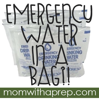 Goodbye Plastic Bottles - there's emergency water in a bag now! @ {Mom with a Prep}