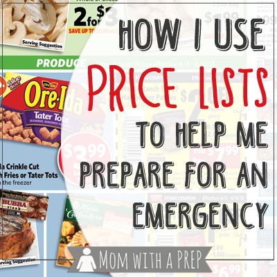 How to use a price list to help create a PREPared pantry for your family from MomwithaPREP.com