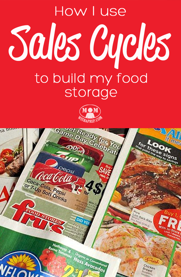 When you're shopping for foods for your family, don't you always wish you could plan ahead a little and know when stuff was going to be on sale? Well, you totally can with knowing your sales cycles! And you can build your PREPared pantry while you're doing it!