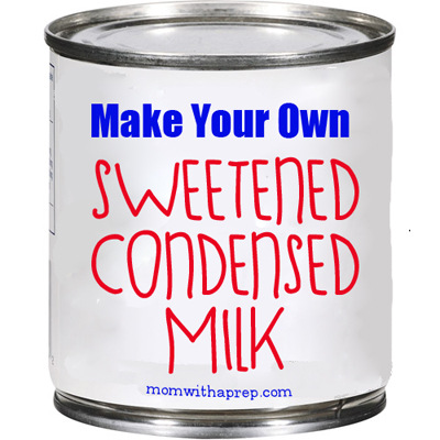 How to Make Your Own Sweetened Condensed Milk {Mom with a Prep}