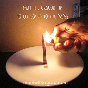 How to get Emergency Lighting with a Crayon- and is it even something you'd want to do?  {Mom with a Prep}