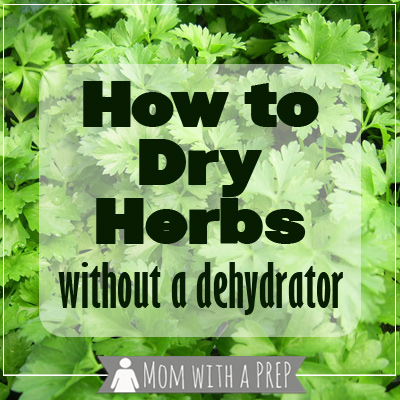 Don't have the money for a dehydrator or want to find an off-grid option to dehydrate your herbs?