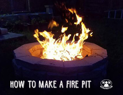 Putting our fire pit to use on a warm spring evening. Want to learn to create your own fire pit for family nights and emergency cooking? Click here for directions....