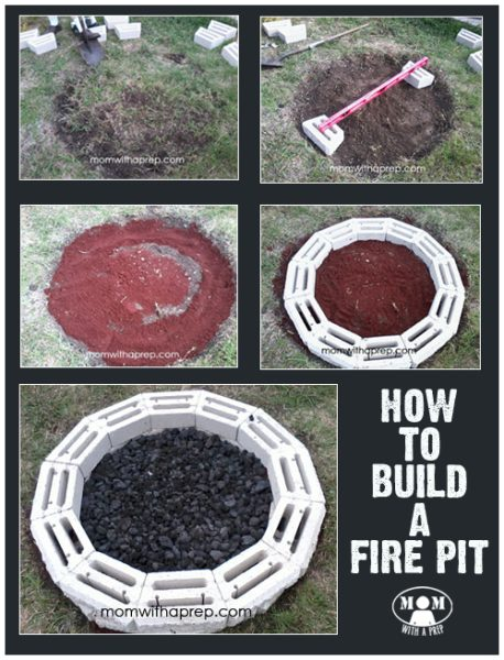 DIY Backyard Fire Pit   Need a project for the weekend that your family can enjoy now and will also help you in the event of an emergency by giving you a secondary source of cooking? Learn more at Mom with a PREP!