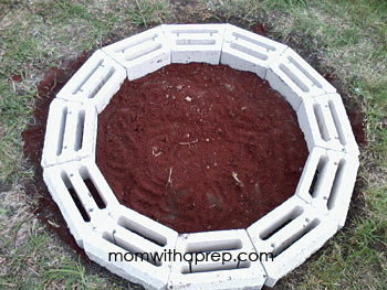 DIY backyard fire pit   Mom with a Prep