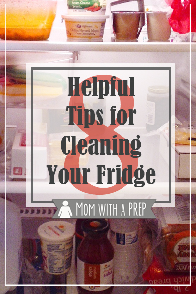 8 Helpful Tips to clean your refrigerator from Momwithaprep.com