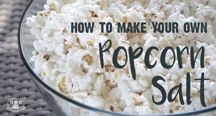 How to Make Your Own Popcorn Salt - Mom with a PREP