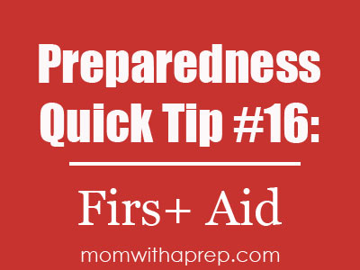 First Aid is your first line of defense as the first responder in any emergency situation you may be involved in - learn to save a life! | Mom with a Prep