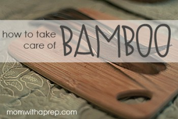How to take care of bamboo utensils in the kitchen {Mom with a Prep}