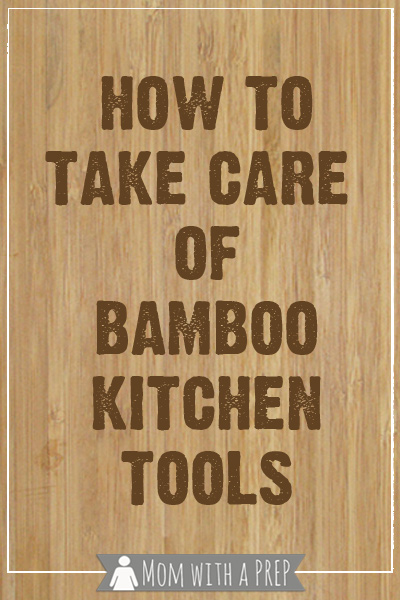 The care and keeping of bamboo kitchen tools is quite easy and helps you create a more sustainable / green kitchen.