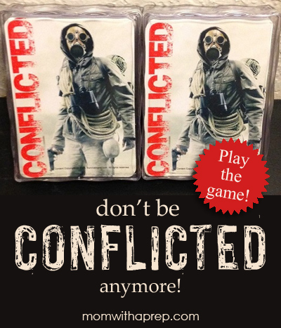 Conflicted - the Prepper card game - wonder how you'll handle situations in a post-emergency world? Find out! Great stocking stuffer! | Mom with a Prep