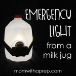 Mom with a PREP | If you've ever seen those Pinterest photos of a water jug emergency lamp and wondered....does that really work? I tried it for you! I tried this out - it really does work!