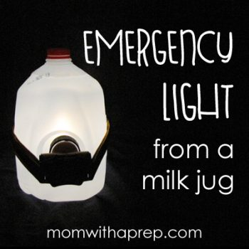 How to get emergency lighting from a milk jug | Mom with a Prep I tried this out - it really does work!