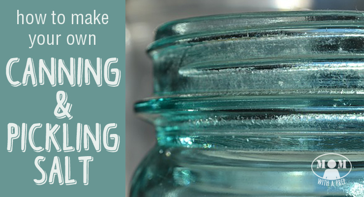 Make your own canning & pickling salt. It's ridiculously easy!