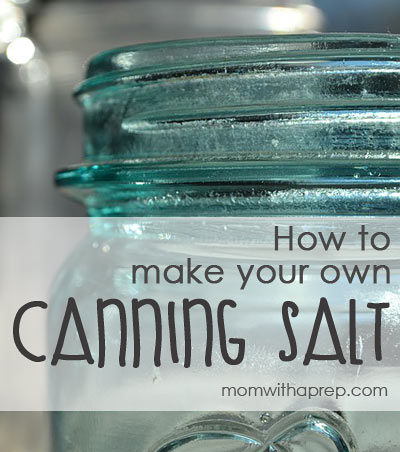 Learn to make your own canning and pickling salt | DIY - canning & pickling salt