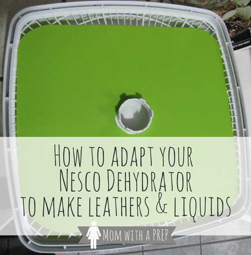 Want to learn to make yummy fruit leathers on your Nesco Dehydrator, but don't have the sheets to do it with? Here's a hack from MomwithaPREP..