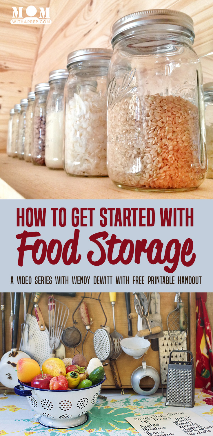 Build a food storage system perfect for YOUR family, not some weird list of foods you'll never eat. This video series by Wendy Dewitt shows you how!