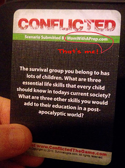 Mom with a PREP | Conflicted: The Survival Card Game available now!
