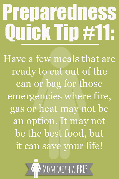 PQT #11 - LUNCH TIME - is your meal coming from a can or a bag today? Check out why it would be good to stock canned or bagged foods for an emergency at MomwithaPREP!