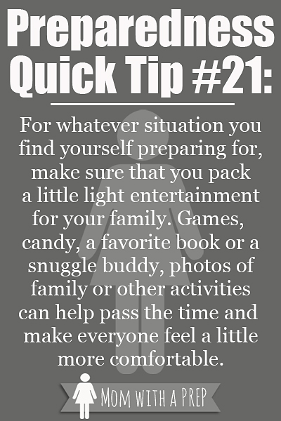 PQT #21 - Light entertainment can make a power outage, waiting for rescue, or even long-term emergencies easier to deal with.