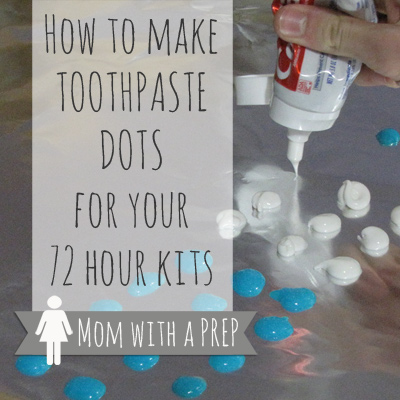 Mom with a PREP | Toothpaste dots were an idea someone came up with awhile back to have toothpaste on hand for camping and hiking. You have seen them all over Pinterest, right? They take up little space, are almost weightless, are better than packing a tube of toothpaste that will inevitably burst and put toothpaste over the entire contents of your bag, no matter how many layers of plastic you have encased it in (Murphy's Law). But do they really work?