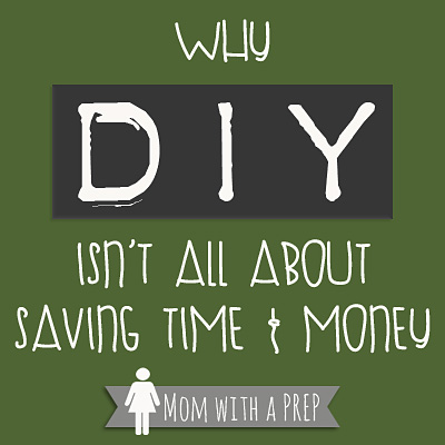 DIY isn't just about saving time, money and health. Find out more...