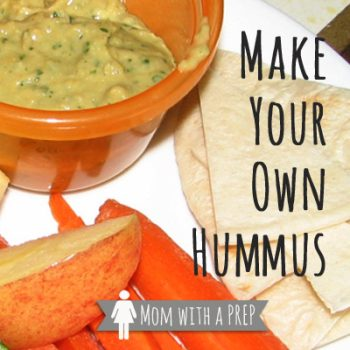 Food Storage Staple Recipe - Make Your Own Hummus - simple recipe with tons of protein!
