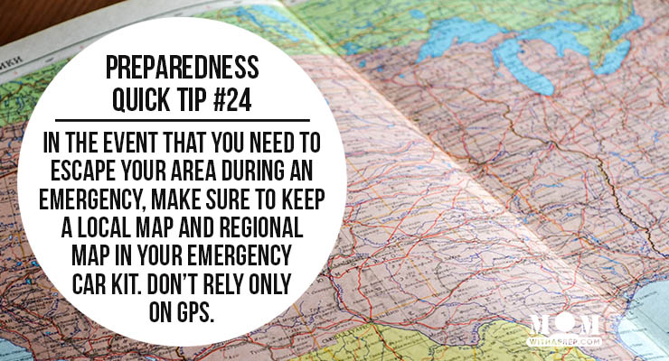 Preparedness Quick Tip #24: Collect Maps for emergencies