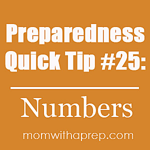Make sure to keep phone numbers handy in case you lose the ability to use your cell phone. Most of us don't remember the numbers we have programmed there.