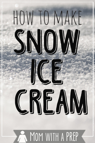 Mom with a PREP   Take advantage of the snow and make something fun!! Keep the ingredients in your food storage so that you can make a great treat on any snow day! #prepare4life #snowday